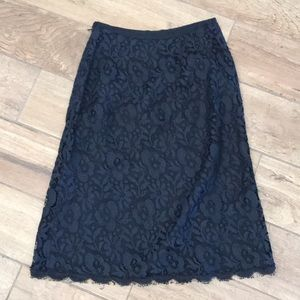 Ann Taylor Skirts - Excellent condition black lace skirt size 0